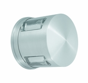 CSL Lighting (SS2028) Compass 1 Light HID Wall or Ceiling Flush Mount shown in Satin Aluminum
