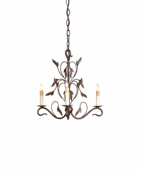 Currey & Co. Arcadia Chandelier, Mini In Hand Rubbed Bronze - 9272