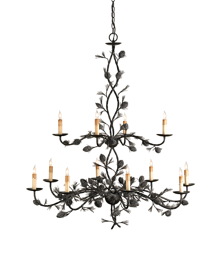 Currey & Co. Bolzano Chandelier, Large In Rustic Bronze - 9678
