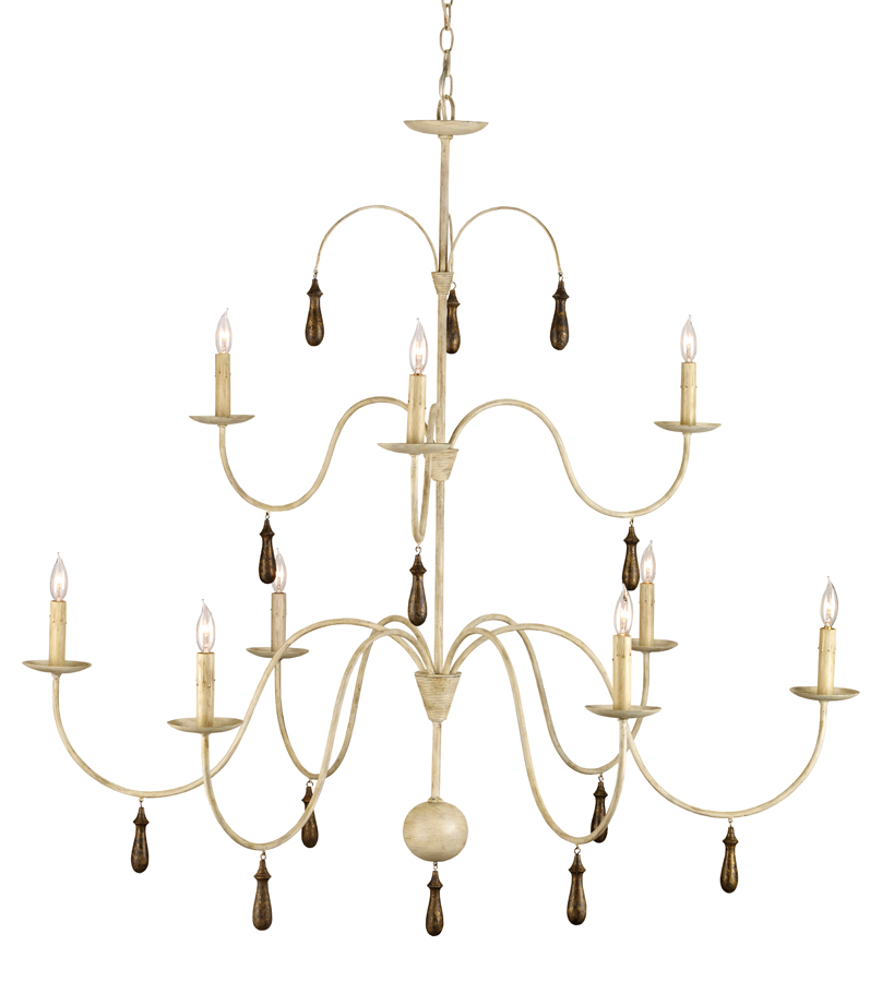 Currey & Co. Christina Chandelier In Smoke Wood - 9011