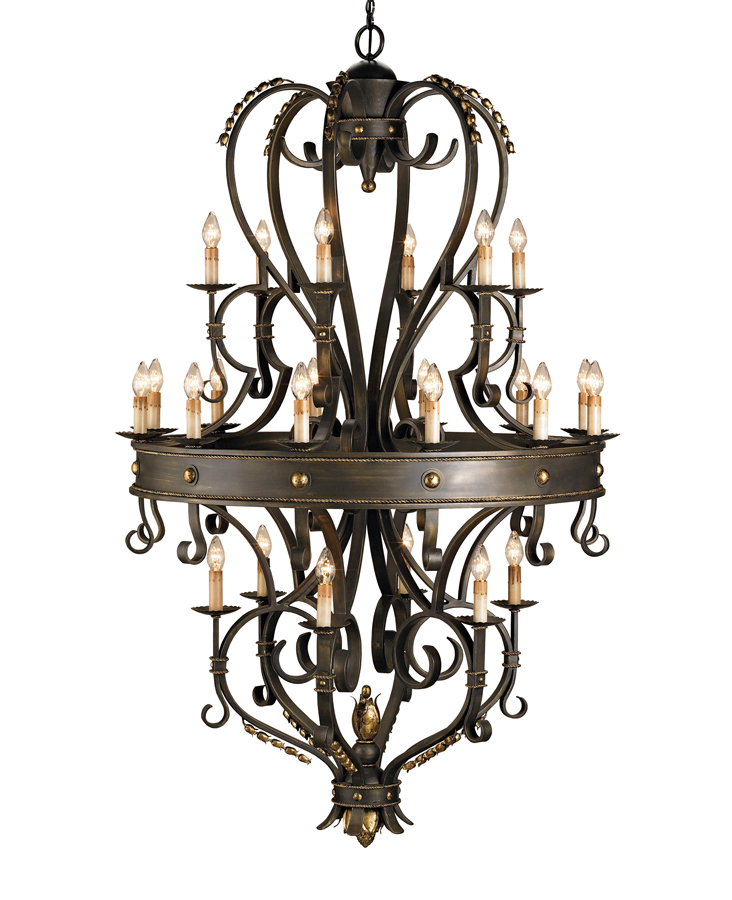 Currey & Co. Colossus Chandelier In Bronze Verdigris/Gold Leaf - 9631