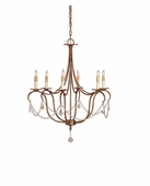 Currey & Company (9880) Crystal Lights Chandelier, Small