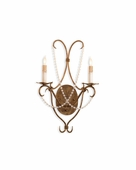 Currey & Co. Crystal Lights Wall Sconce  In Rhine Gold - 5880