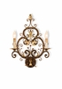 Currey & Co. Dominion Wall Sconce In Cupertino/Gold Leaf/Copper - 5372