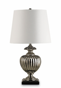 Currey & Co. Embargo Table Lamp In Nickel/Black - 6595