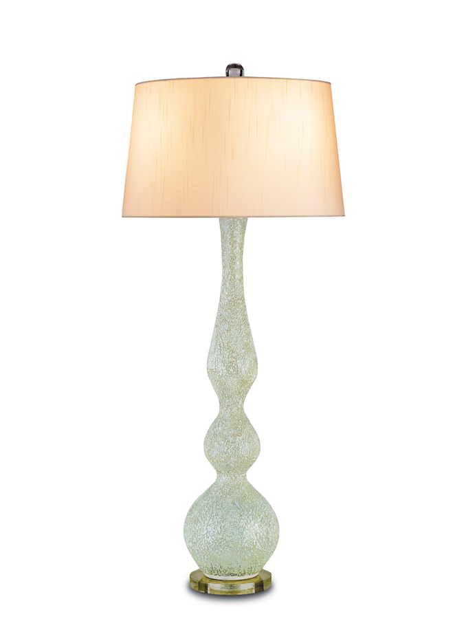 Currey & Co. Flirtation Table Lamp In Celadon/Clear - 6284