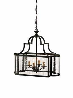 Currey & Co. Godfrey Lantern In Old Iron - 9467