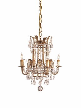 Currey & Co. Laureate Chandelier, Small  In Rhine Gold - 9543