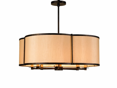 Currey & Co. Linley Pendant In French Black - 9050