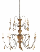 Currey & Co. Mansion Chandelier, Large In Mansion Gold - 9314
