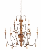 Currey & Co. Mansion Chandelier, Medium In Mansion Gold - 9324