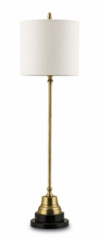 Currey & Co. Messenger Table Lamp In Vintage Brass/Black - 6472
