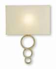 Currey & Company (5906) Pembroke 1 Light Wall Sconce shown in Silver Granello
