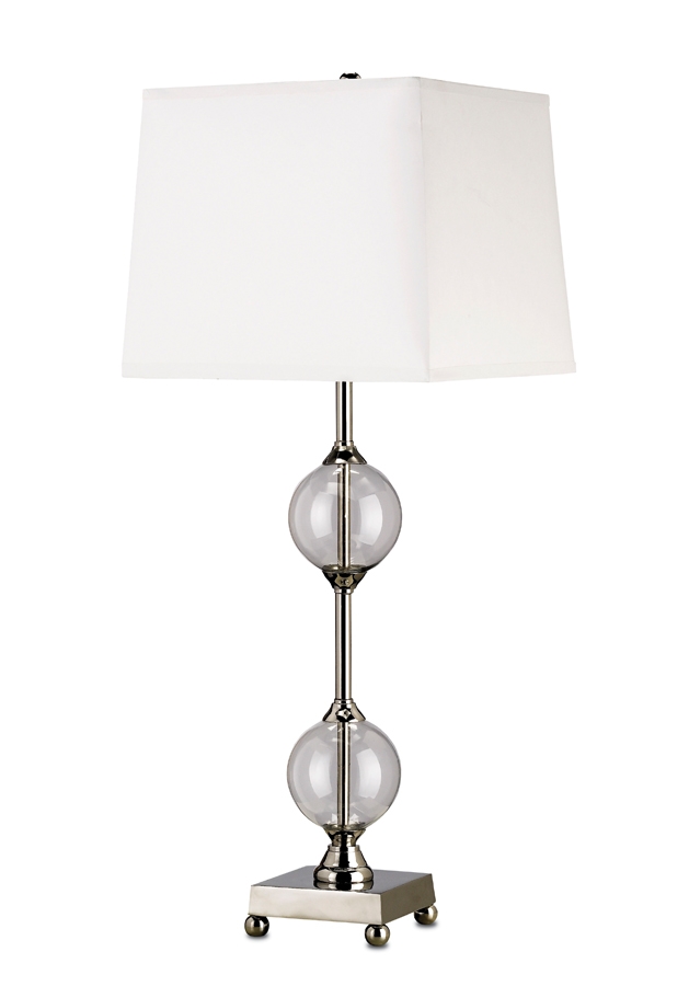Currey & Co. Precision Table Lamp In Clear/Nickel - 6965