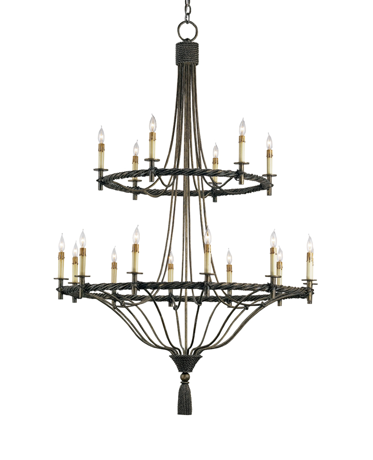 Currey & Co. Priorwood Chandelier In Pyrite Bronze - 9174