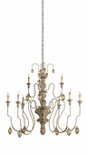 Currey & Co. Rossetti Chandelier In Provencial White - 9347
