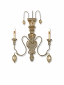 Currey & Co. Rossetti Wall Sconce In Provencial White/Silver Leaf - 5346
