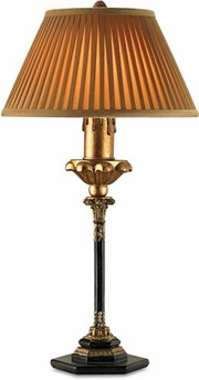 Currey & Co. Socrates Table Lamp, Black In Faux Black Marble/Gold - 6243