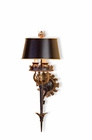 Currey & Company (5412) The Duke 3 Light Wall Sconce shown in Zanzibar Gold Leaf & Zanzibar Bl