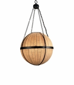 Currey & Co. Wiggins Orb Chandelier In Black/Natural Burlap - 9091