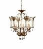 Currey & Co. Zara Flush Mount, Large  Winterthur Collection, In Viejo Gold/Silver - 9387