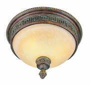 Cuzco 2 Light Flush-mount shown in Lincoln Copper by Trans Globe Lighting