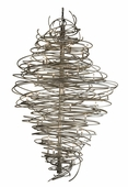 2nd Avenue Lighting (01.0995.72.96H) Cyclone 72 Inch Chandelier shown in Pewter Finish