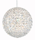 Schonbek Lighting (DV1212) Da Vinci 12 Light Pendant Lighting shown in Stainless Steel Finish