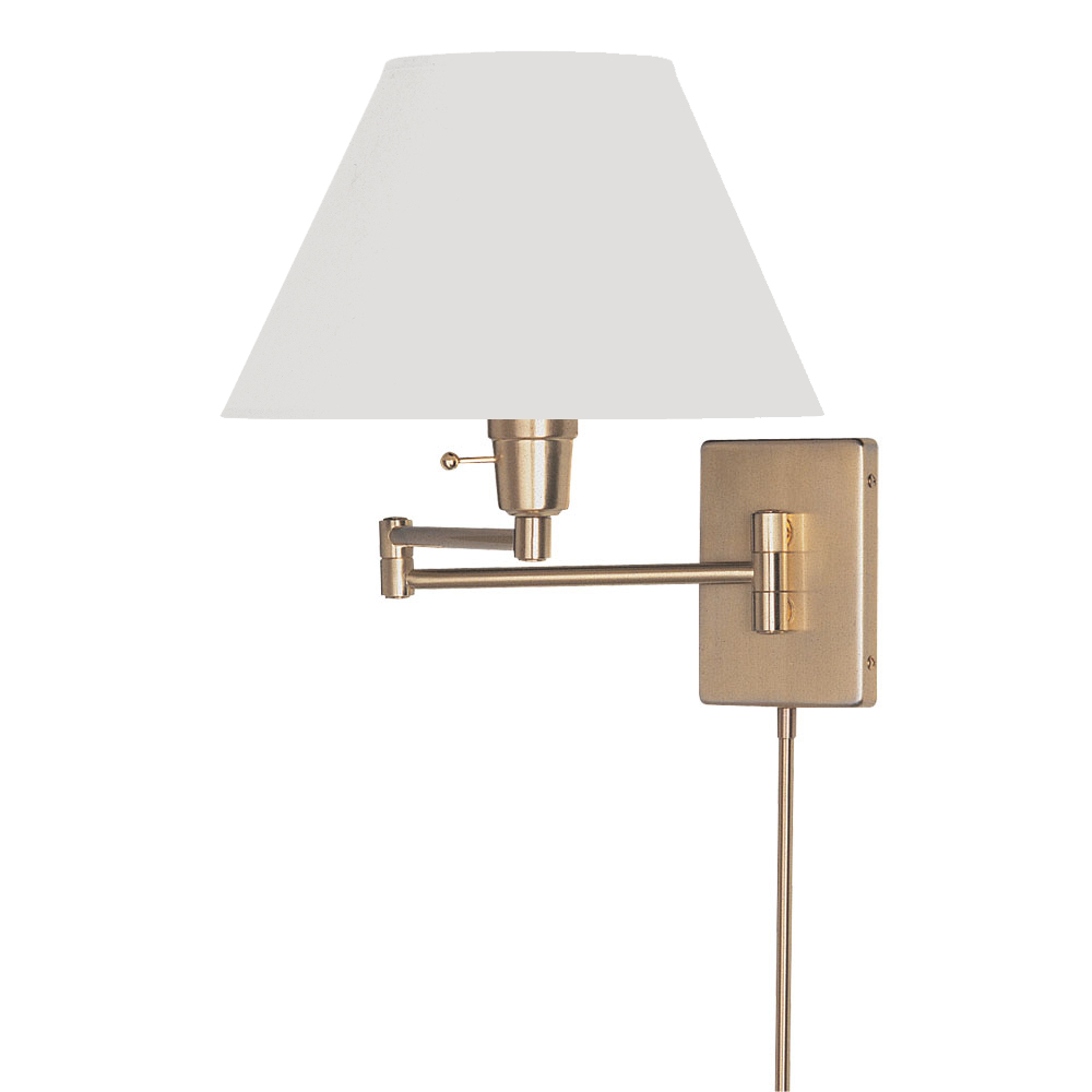 dainolite lighting dmwl800 pb swing arm wall lamp in polished brass. Black Bedroom Furniture Sets. Home Design Ideas