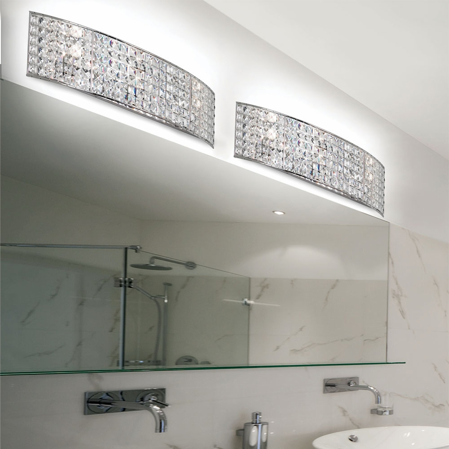 Wonderful Bathroom Rentals Cost Big Plan Your Bathroom Design Square Bath Decoration Heated Whirlpool Baths Youthful Bathroom Vanities Toronto Canada PinkBath And Shower Enclosures Lighting (V677 3W PC) Mila 3 Light Crystal Vanity Fixture In ..