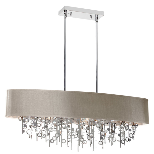 Light Picabo Crystal Chandelier Pebble