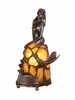 Dale Tiffany Lighting (84227) Amber Mermaid Accent Lamp shown in Antique Bronze Finish