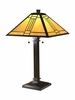 Dale Tiffany Lighting (TT100015) Noir Mission Table Lamp shown in Mica Bronze Finish