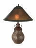 Dale Tiffany (TT10608) Mica Round Base Table Lamp in Antique Bronze