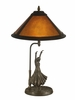 Dale Tiffany Lighting (TT11185) Mica Dancer Table Lamp shown in Antique Bronze Finish
