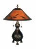 Dale Tiffany Lighting (TT90193) Mica Leafs Table Lamp shown in Antique Golden Sand Finish