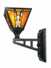 Dale Tiffany Lighting (TW100853) Amber Monarch Wall Sconce shown in Mica Bronze Finish