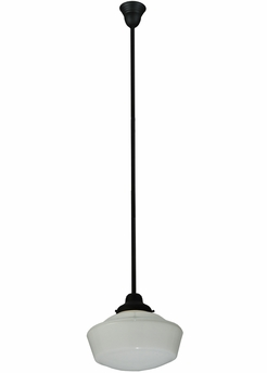 Meyda Tiffany (125621) 16 Inch Width Schoolhouse with Traditional Globe Pendant
