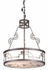 "Meyda Tiffany (70647) 25""W Cilindro Deco Inverted Pendant"