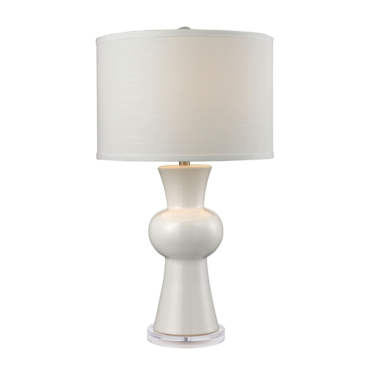 dimond lighting d2618 white ceramic table lamp with textured white. Black Bedroom Furniture Sets. Home Design Ideas
