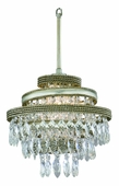 Diva Interior 1 Light Mini Pendant Ceiling Mount shown in Silver Leaf with Gold Lining by Corbett Lighting