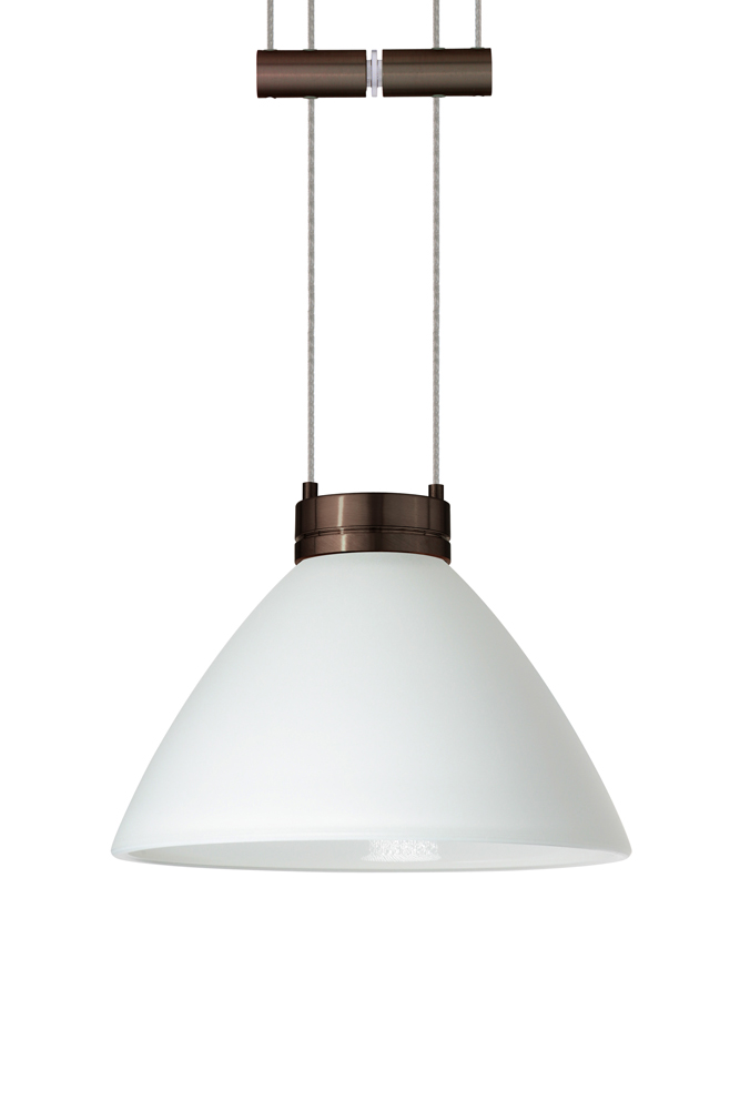 in bronze with white glass shade by besa lighting 1xa 174307 br