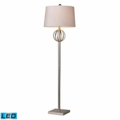 Donora Steel Floor Lamp shown in Silver Leaf by Dimond Lighting