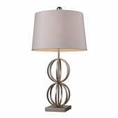 Donora Steel Table Lamp shown in Silver Leaf by Dimond Lighting