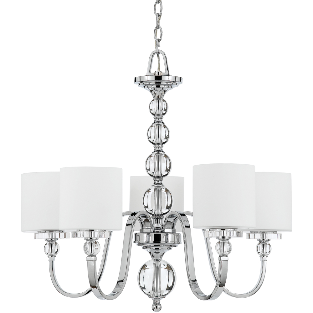Downtown- Contemporary Style Downtown Chandelier In Polished Chrome Finish From Quoizel Lighting- DW5005C