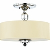Downtown- Contemporary Style Downtown Semi-Flush Mount In Polished Chrome Finish From Quoizel Lighting- DW1717C