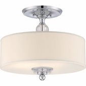 "Quoizel Lighting (DW1717C) Downtown 17"" Semi-Flush Mount in Polished Chrome"