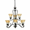 Duchess- European Style Duchess Chandelier In Palladian Bronze Finish From Quoizel Lighting- DH5009PN