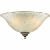 "Quoizel Lighting (DH1616AN) Duchess 15"" Flush Mount in Antique Nickel"
