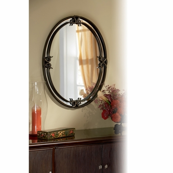 Duchess- European Style Duchess Mirror In Palladian Bronze Finish From Quoizel Lighting- DH44030PN